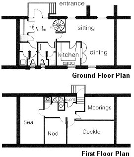 Floor plan - Deepdale Granary Group Hostel offers self catering group accommodation and self catering family accommodation sleeping 19 people in four bedrooms.  The perfect self catering accommodation for a group or family visit to the North Norfolk Coast, whatever your interest in this �Area of Outstanding Natural Beauty�