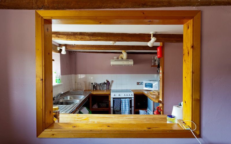Fully equipped self catering kitchen in the Deepdale Groups Hostel