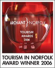 Winner of the Sustainable Tourism Award, Tourism in Norfolk Awards 2006.  We are very proud to have won this award.  Thank you to all our customers who help with our green efforts.  Click here for more information